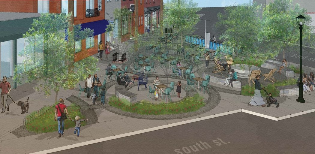 Grays Ferry Triangle, Proposed Permanent Plaza