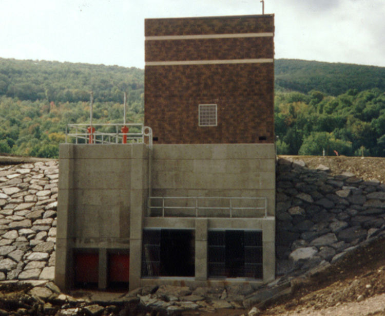 Bill Smith Creek Pump Station, Exterior View, Corning NY