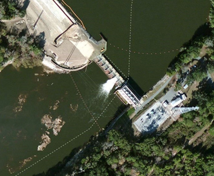 CH Corn Hydroelectric Plant, Aerial, Tallahassee FL