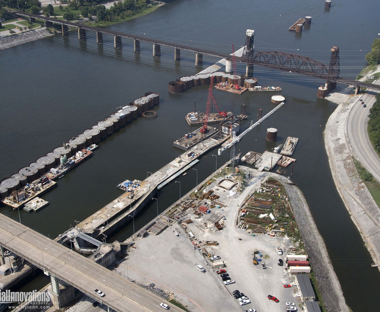 Chickamauga Lock Replacement, Aerial View, Chattanooga TN