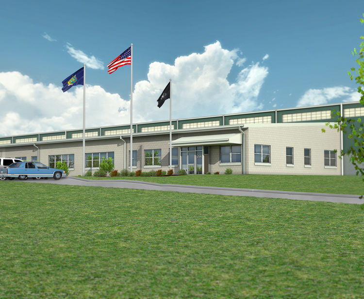 Chili Public Works Operations Center, Exterior Plan, Town Of Chili NY