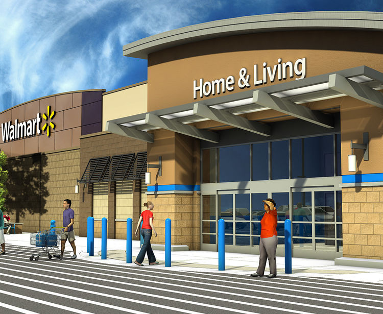 Walmart New Store Program Exterior Render 2