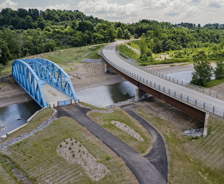 Route 240 X Bridge Over Cattaraugus Creek Aerial Ashford And Concord NY
