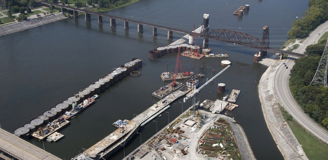 Chickamauga Lock Replacement, Cofferdam Construction, Chattanooga TN