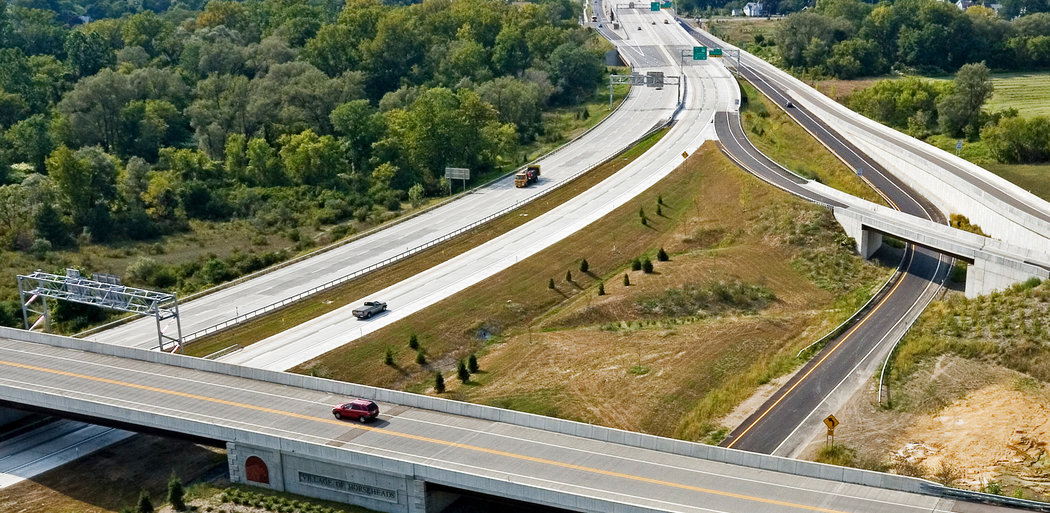 Horseheads Bypass Interchange (I-86), Aerial View, Horseheads NY