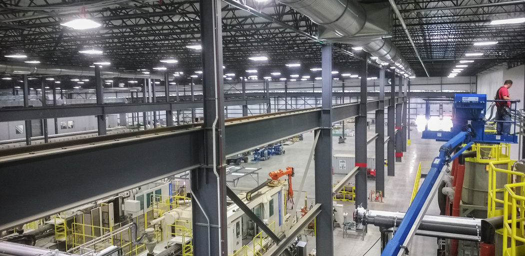 Magna Manufacturing Warehouse Facility, Interior, Delta Township MI