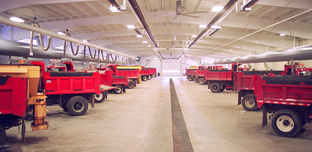 Perinton Public Works Operations Center, Vehicle Storage, Fairport NY
