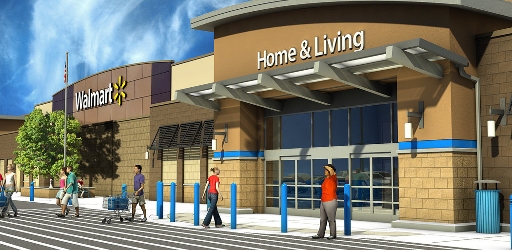 Walmart New Store Program, Exterior Render